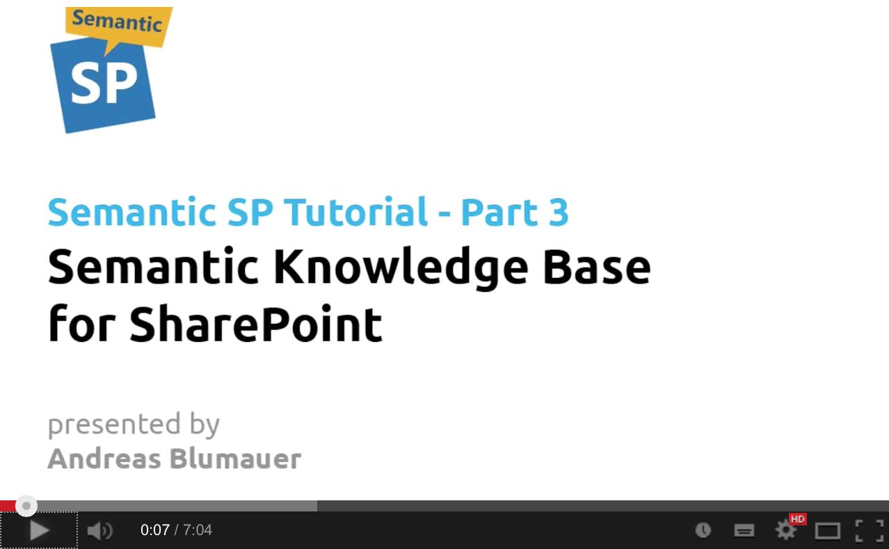 Semantic Knowledge Base